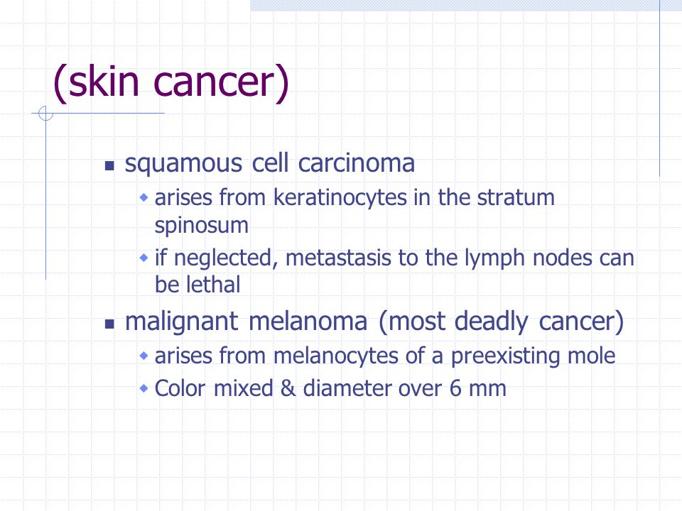 (skin cancer) squamous cell carcinoma