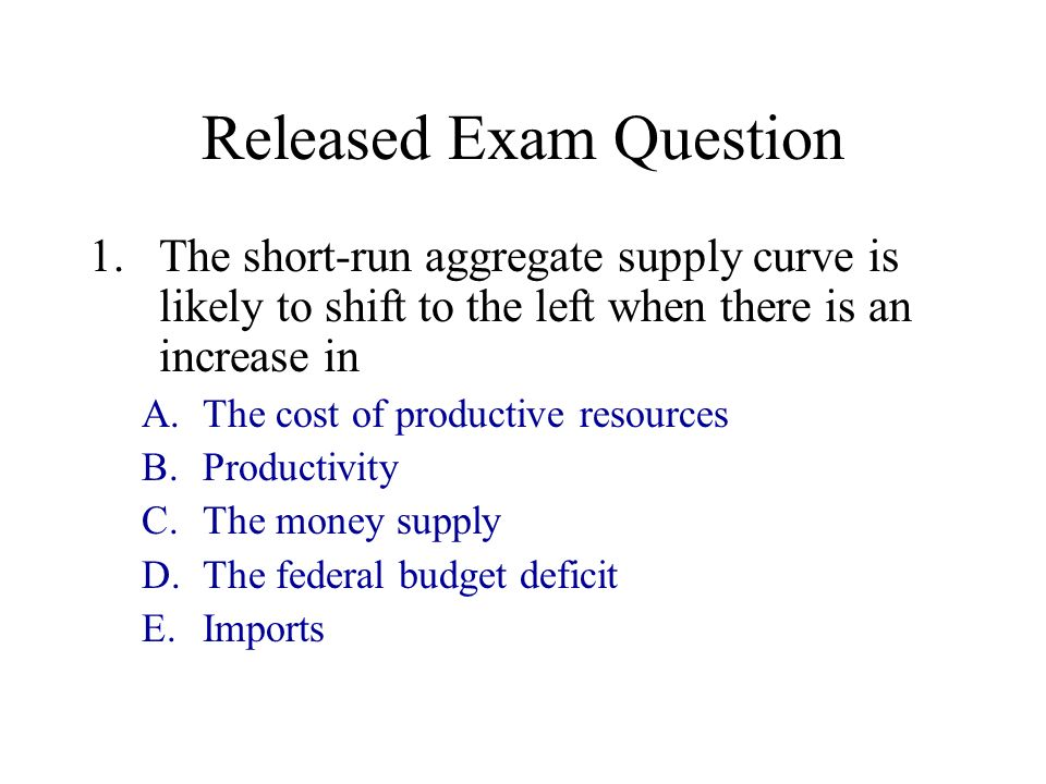 Released Exam Question