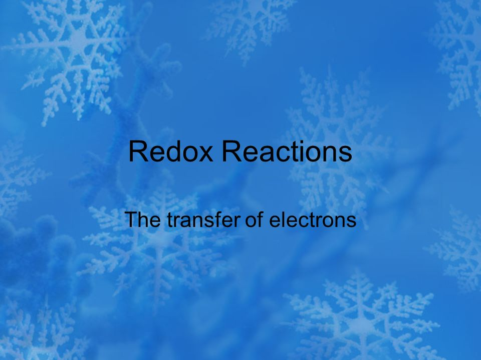 The transfer of electrons