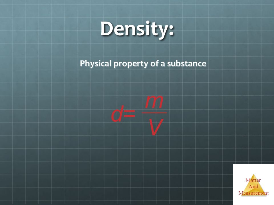 Physical property of a substance