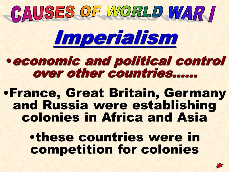 economic and political control over other countries……