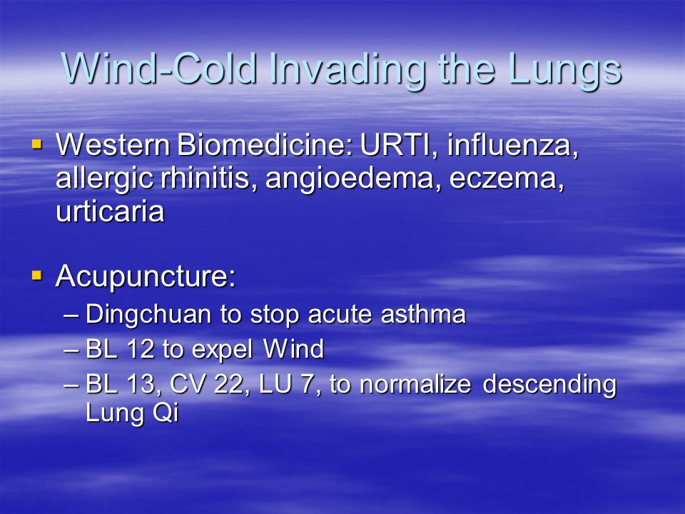 Wind-Cold Invading the Lungs