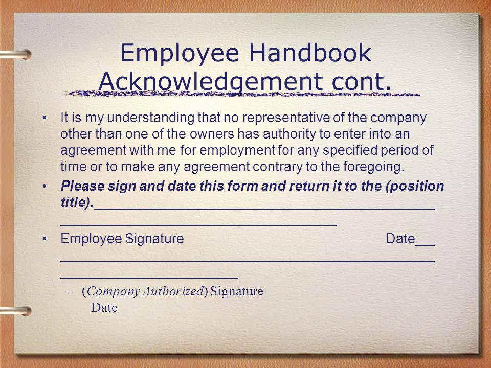 Alternatives View Of Employee Handbooks Ppt Download - Employee handbook acknowledgement form template