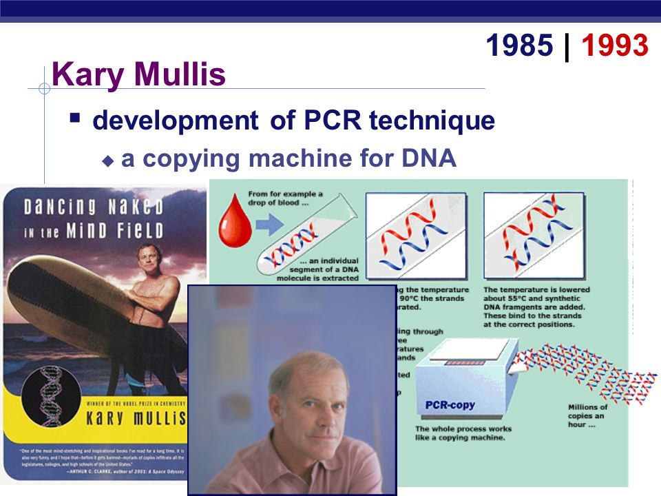Kary Mullis 1985 | 1993 development of PCR technique