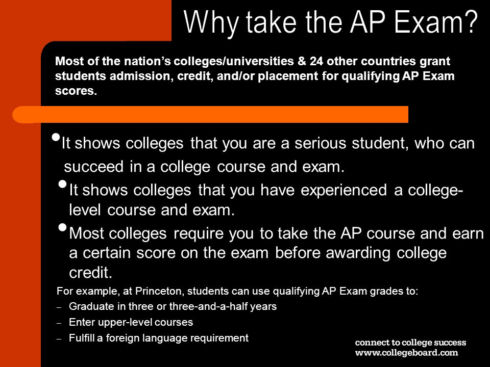 Why take the AP Exam