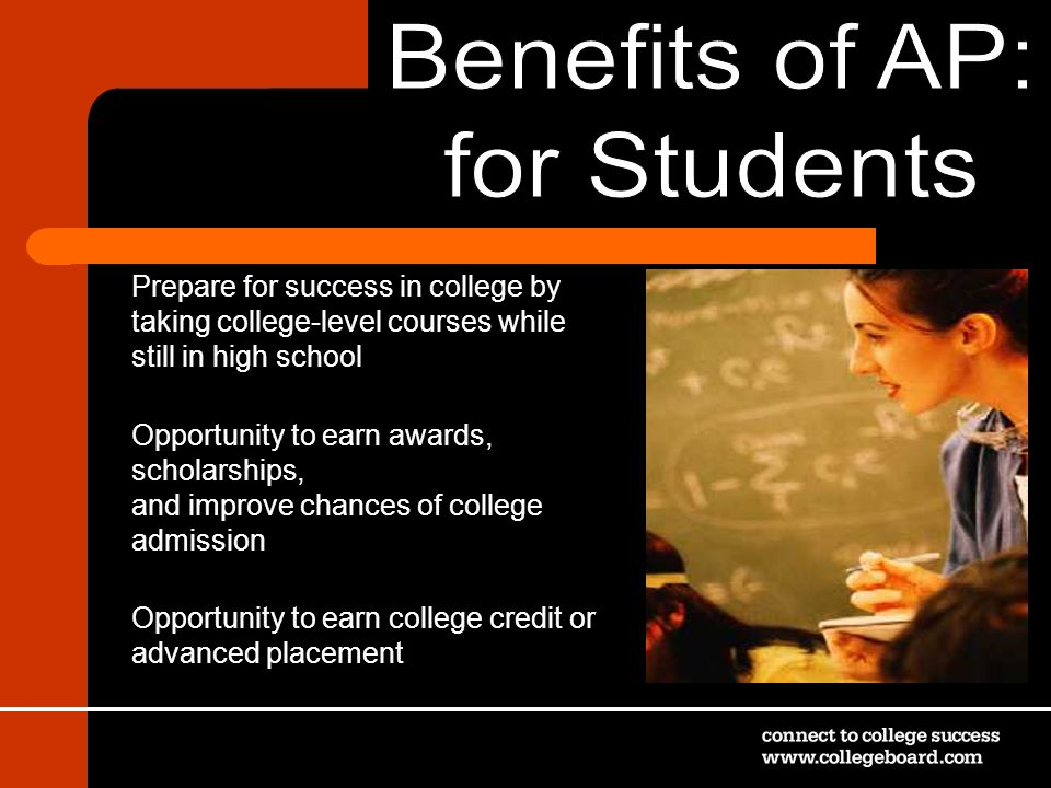 Benefits of AP: for Students