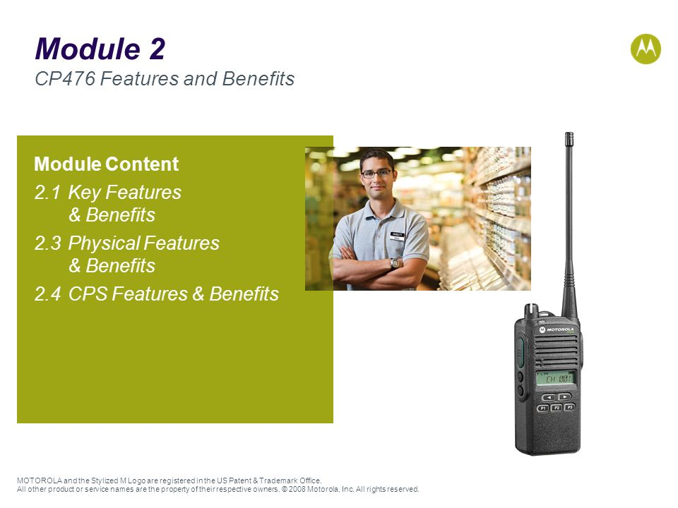 Module 2 CP476 Features and Benefits