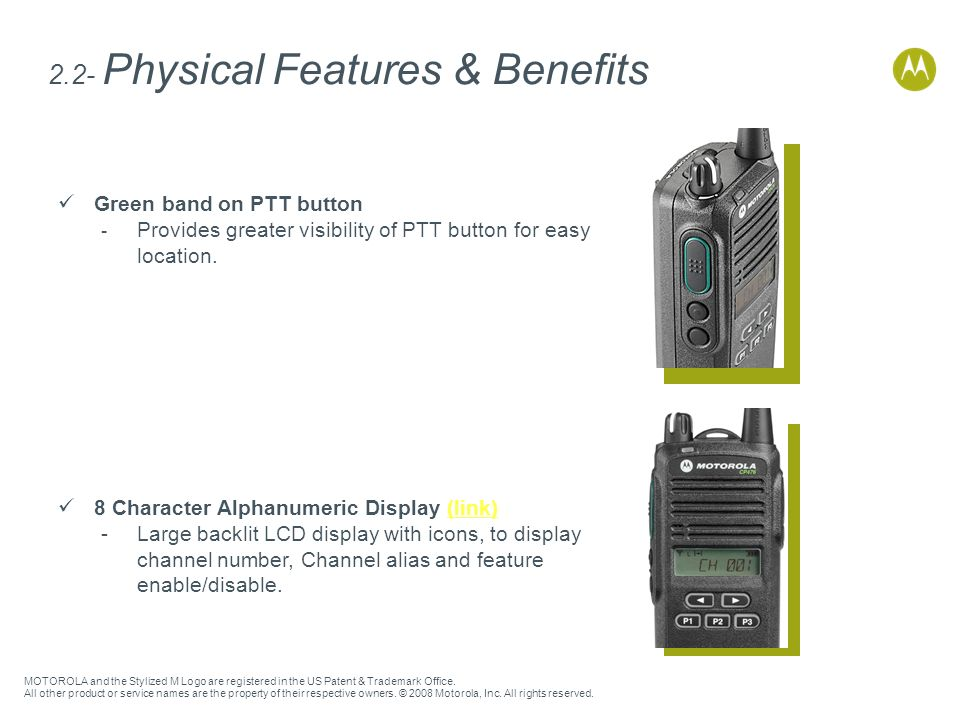 2.2- Physical Features & Benefits