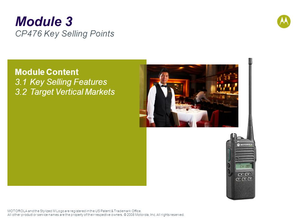 Module 3 CP476 Key Selling Points