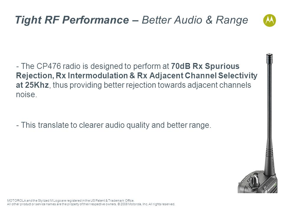 Tight RF Performance – Better Audio & Range