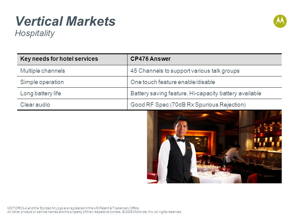 Vertical Markets Hospitality