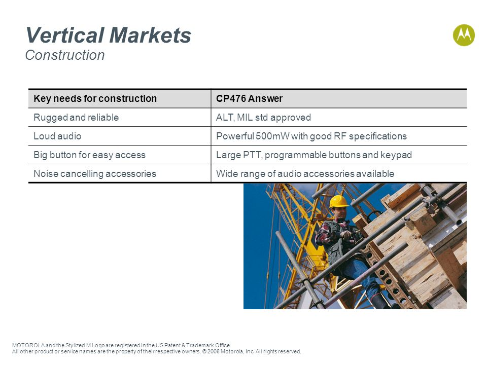 Vertical Markets Construction