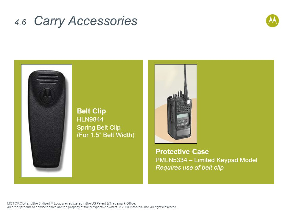 4.6 - Carry Accessories Belt Clip Protective Case HLN9844