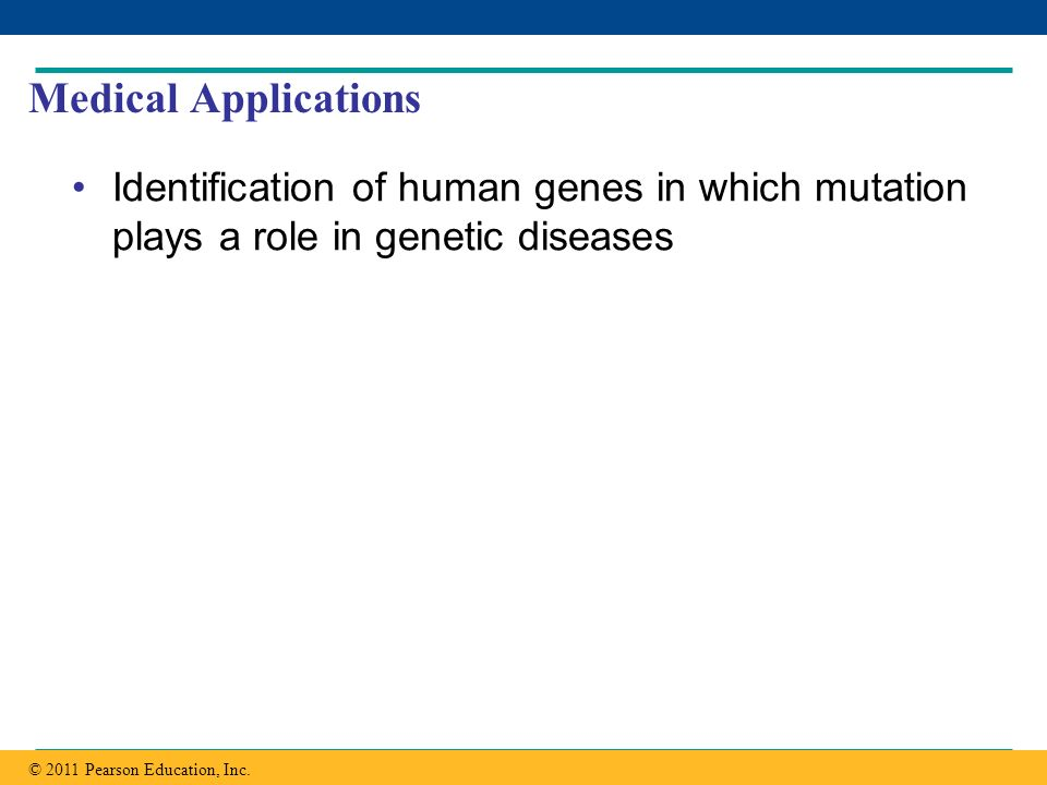 Medical Applications Identification of human genes in which mutation plays a role in genetic diseases.