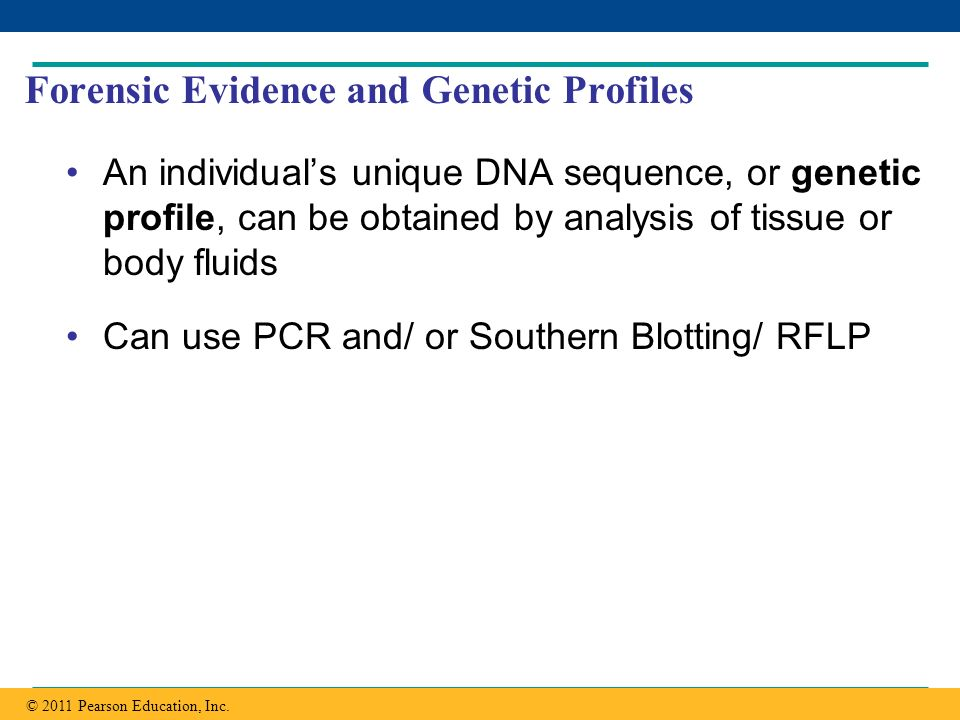 Forensic Evidence and Genetic Profiles