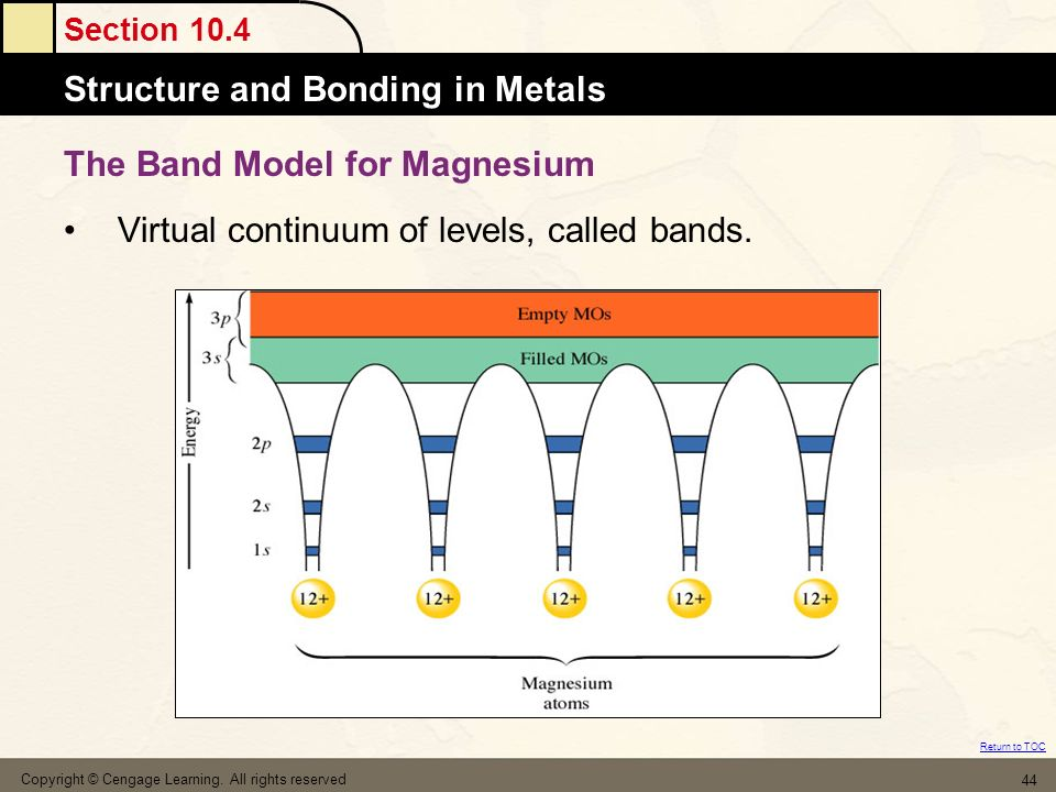 The Band Model for Magnesium