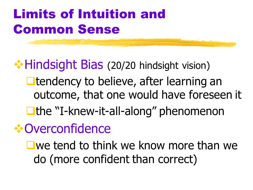 Limits of Intuition and Common Sense