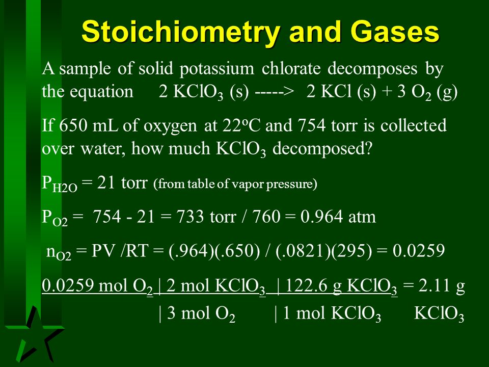 Stoichiometry and Gases