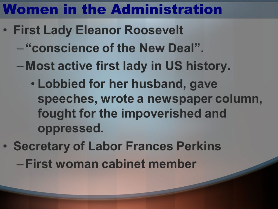 Women in the Administration