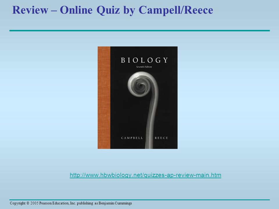 Review – Online Quiz by Campell/Reece