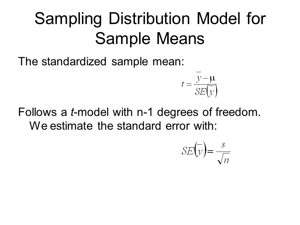 Sampling Distribution Model for Sample Means