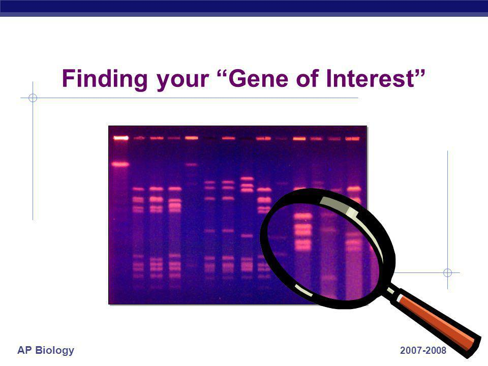 Finding your Gene of Interest