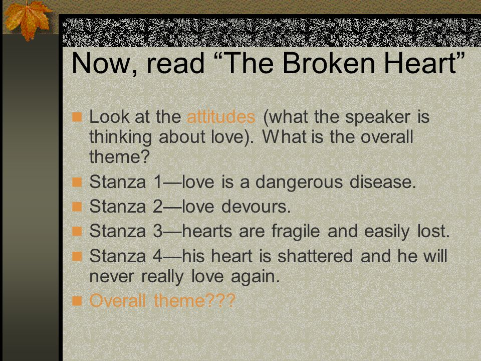 Now, read The Broken Heart