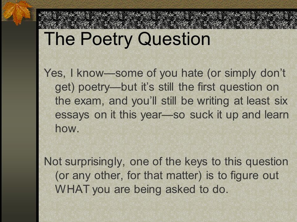 The Poetry Question