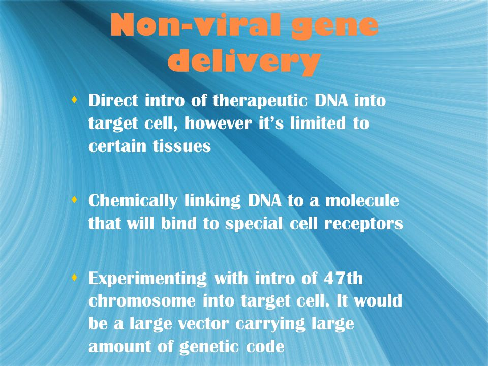 Non-viral gene delivery