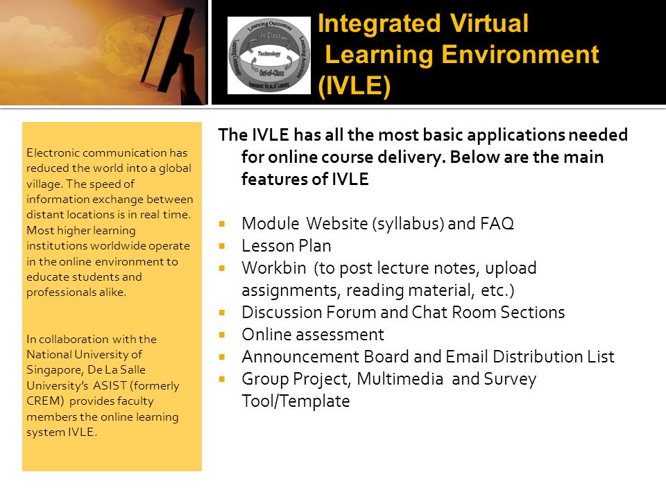 Learning Environment (IVLE)