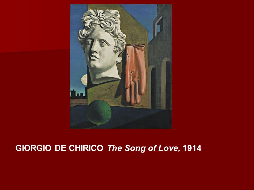 GIORGIO DE CHIRICO The Song of Love, 1914