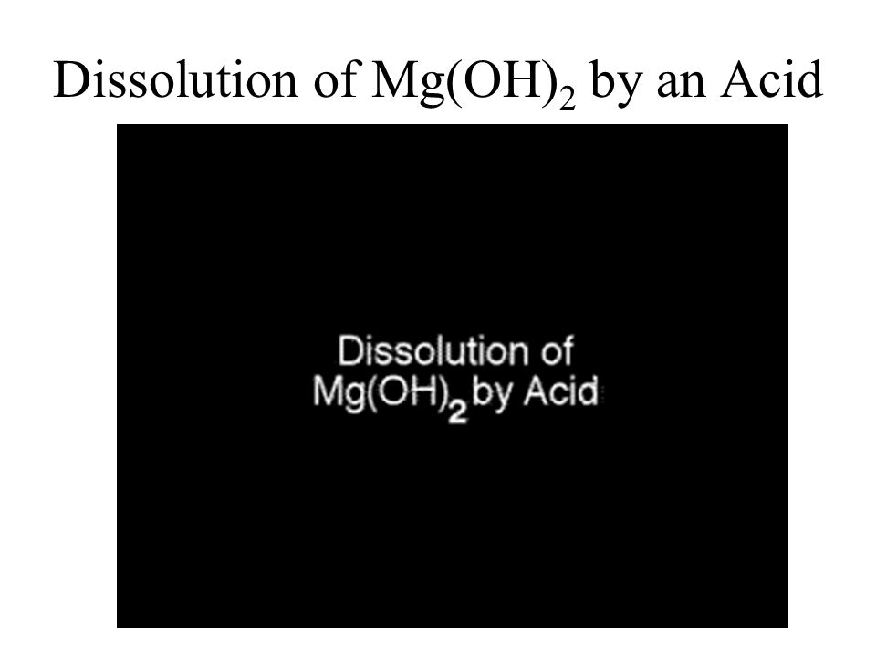 Dissolution of Mg(OH)2 by an Acid