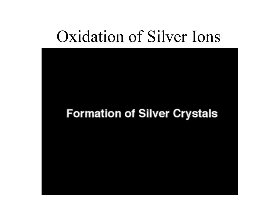 Oxidation of Silver Ions
