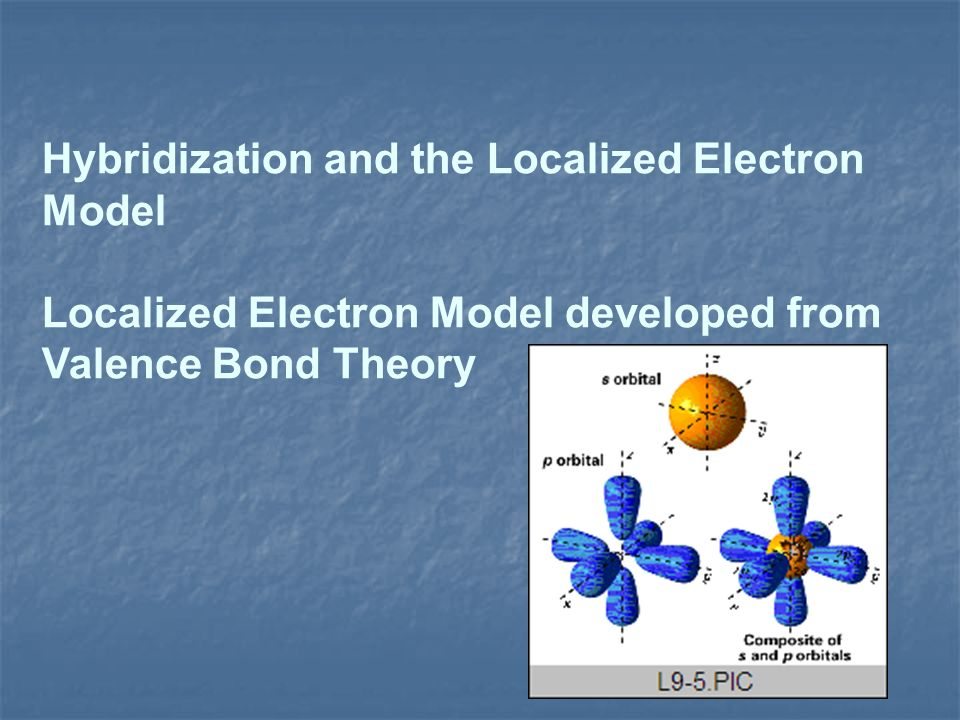 Hybridization and the Localized Electron