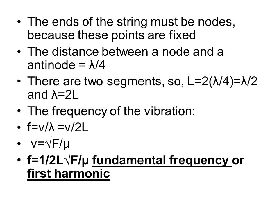 The ends of the string must be nodes, because these points are fixed