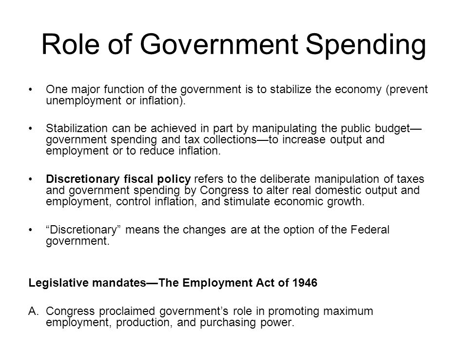 Role of Government Spending
