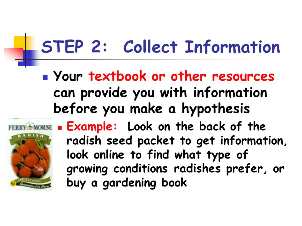 STEP 2: Collect Information
