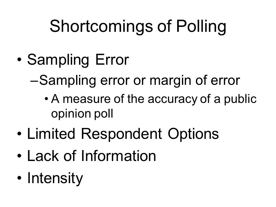 Shortcomings of Polling