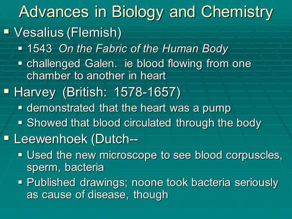 Advances in Biology and Chemistry