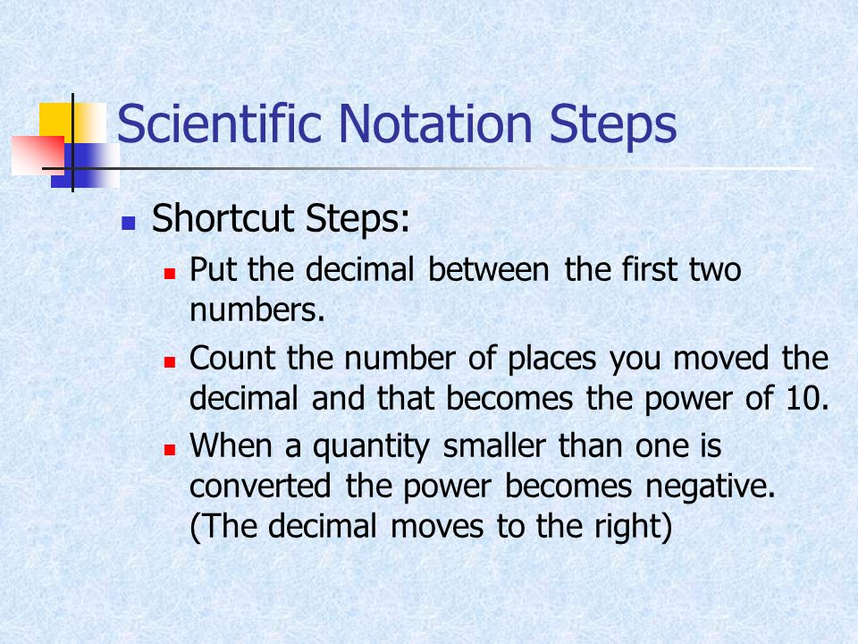 Scientific Notation Steps