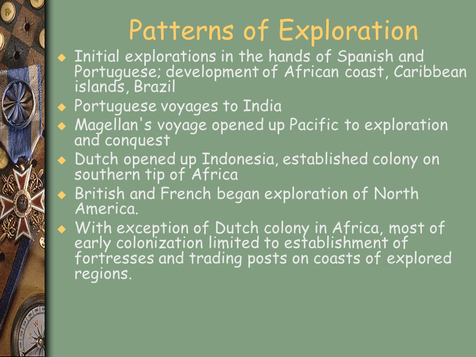 Patterns of Exploration