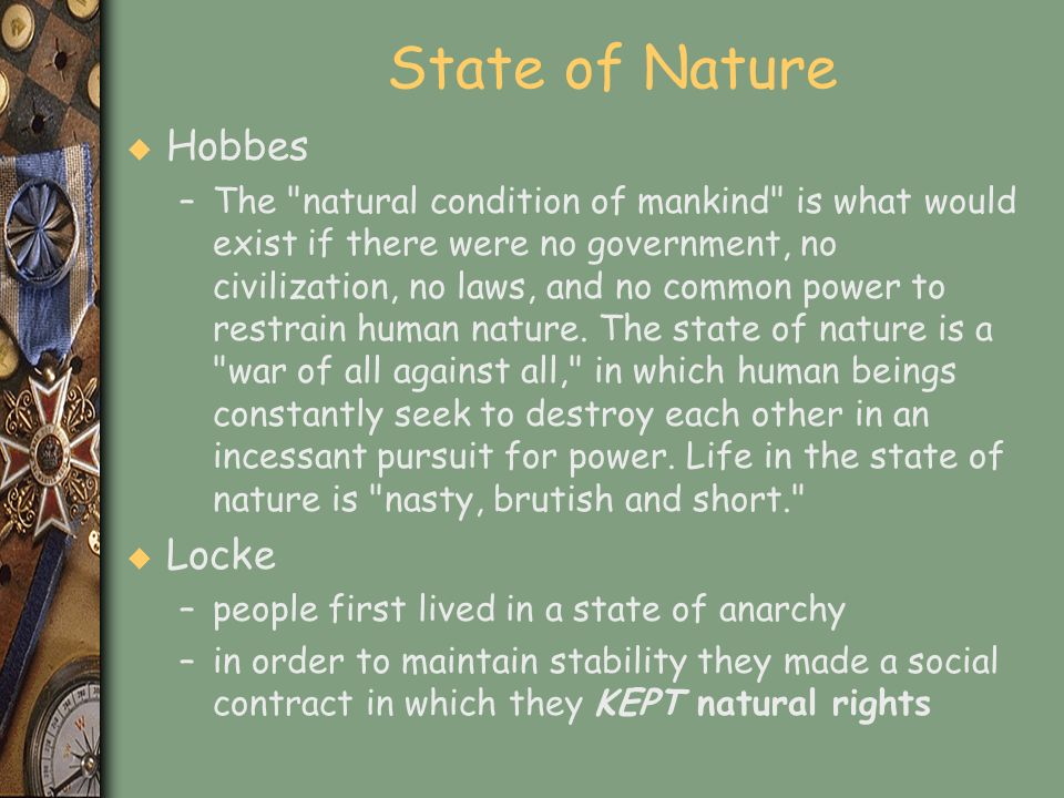State of Nature Hobbes Locke