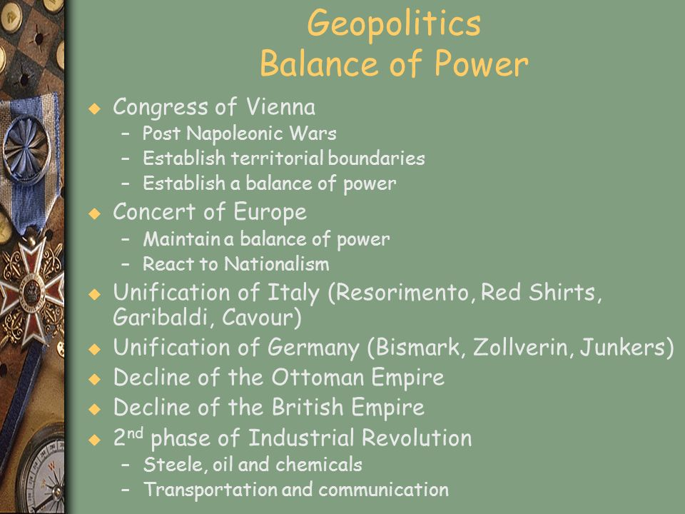 Geopolitics Balance of Power