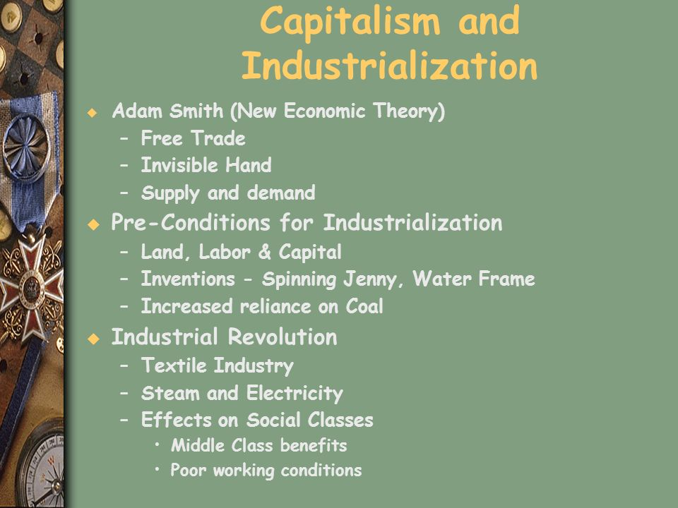 Capitalism and Industrialization
