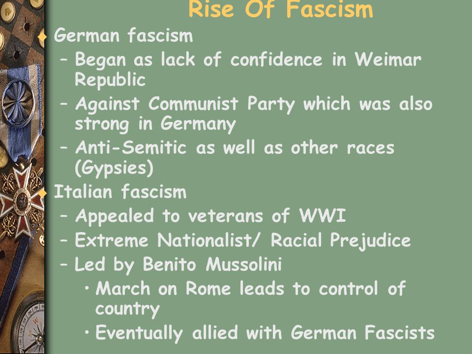 Rise Of Fascism German fascism