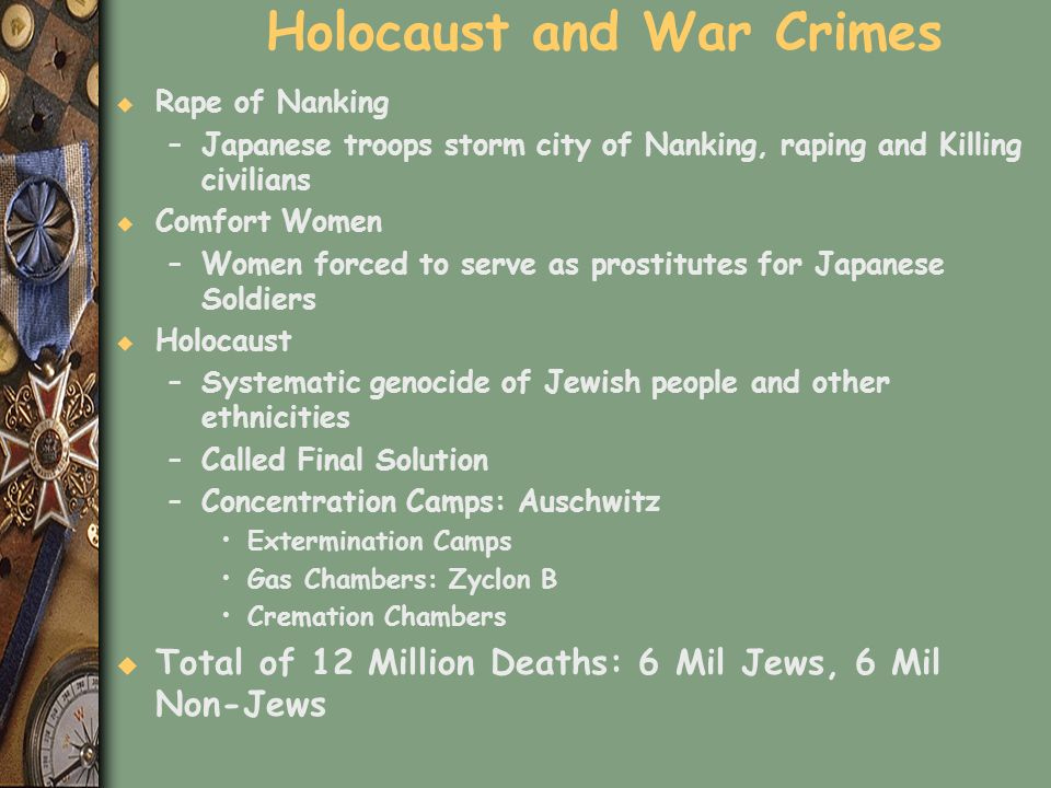 Holocaust and War Crimes