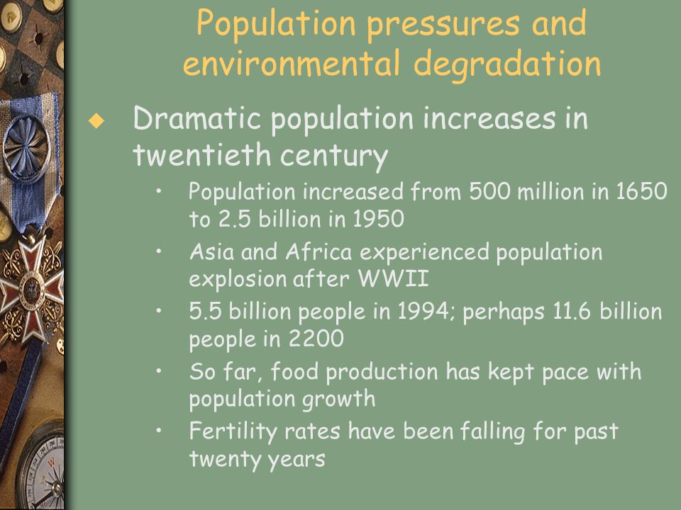 Population pressures and environmental degradation