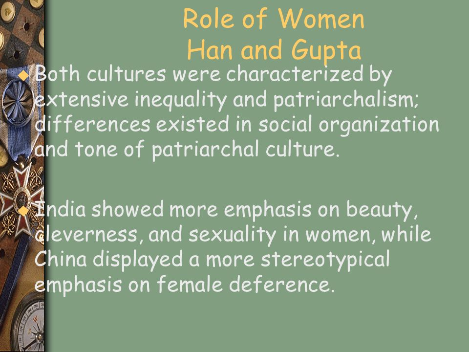 Role of Women Han and Gupta
