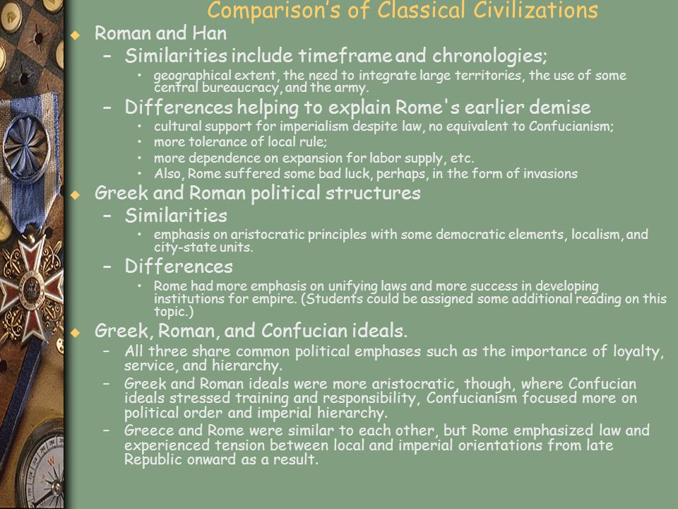 Comparison's of Classical Civilizations
