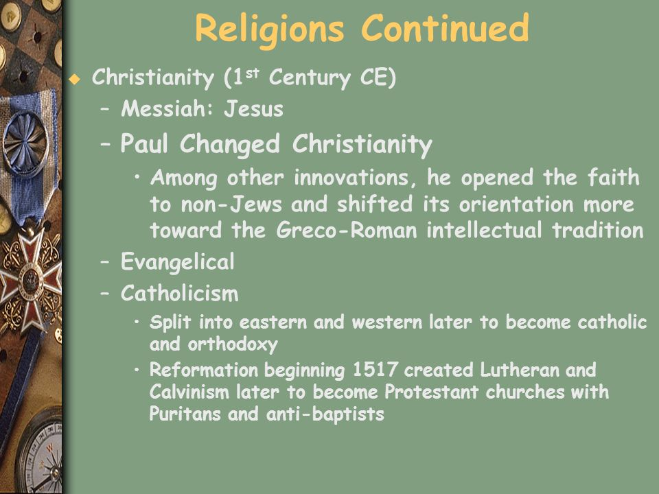 Religions Continued Paul Changed Christianity